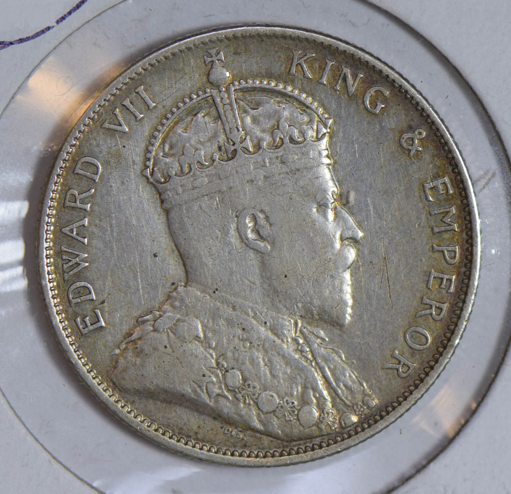 Straits Settlements 1903 50 Cents silver cleaned S0203 combine shipping