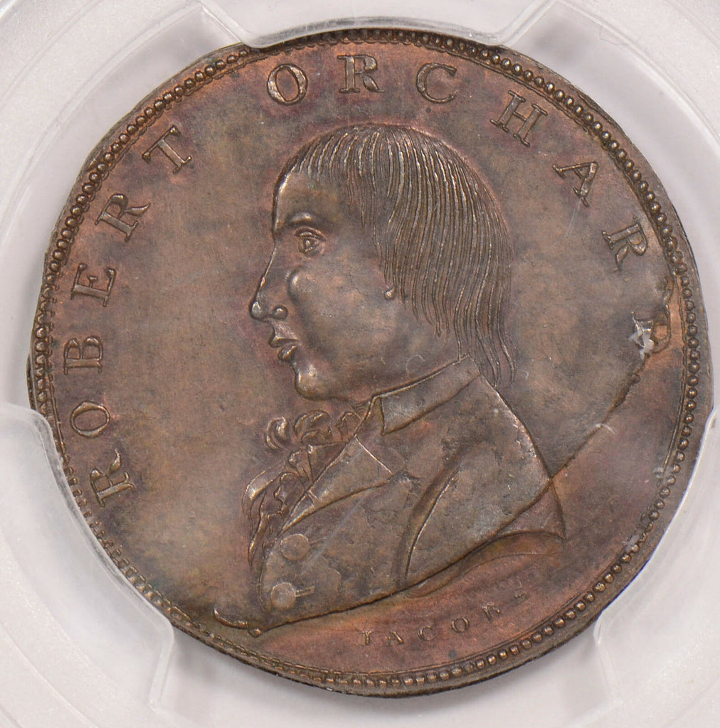PC0093 Great Britain 1795  1/2 Penny PCGS AU 55 halfpenny dublin dh-313 combine