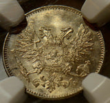 1917 S Finland 25 Pennia NGC MS64 NG0045 combine shipping