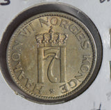 Norway 1953 50 Ore lustrous UNC N0169 combine shipping