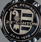 Switzerland 1978  Medal  23 canton vote federal S0153  combine shipping