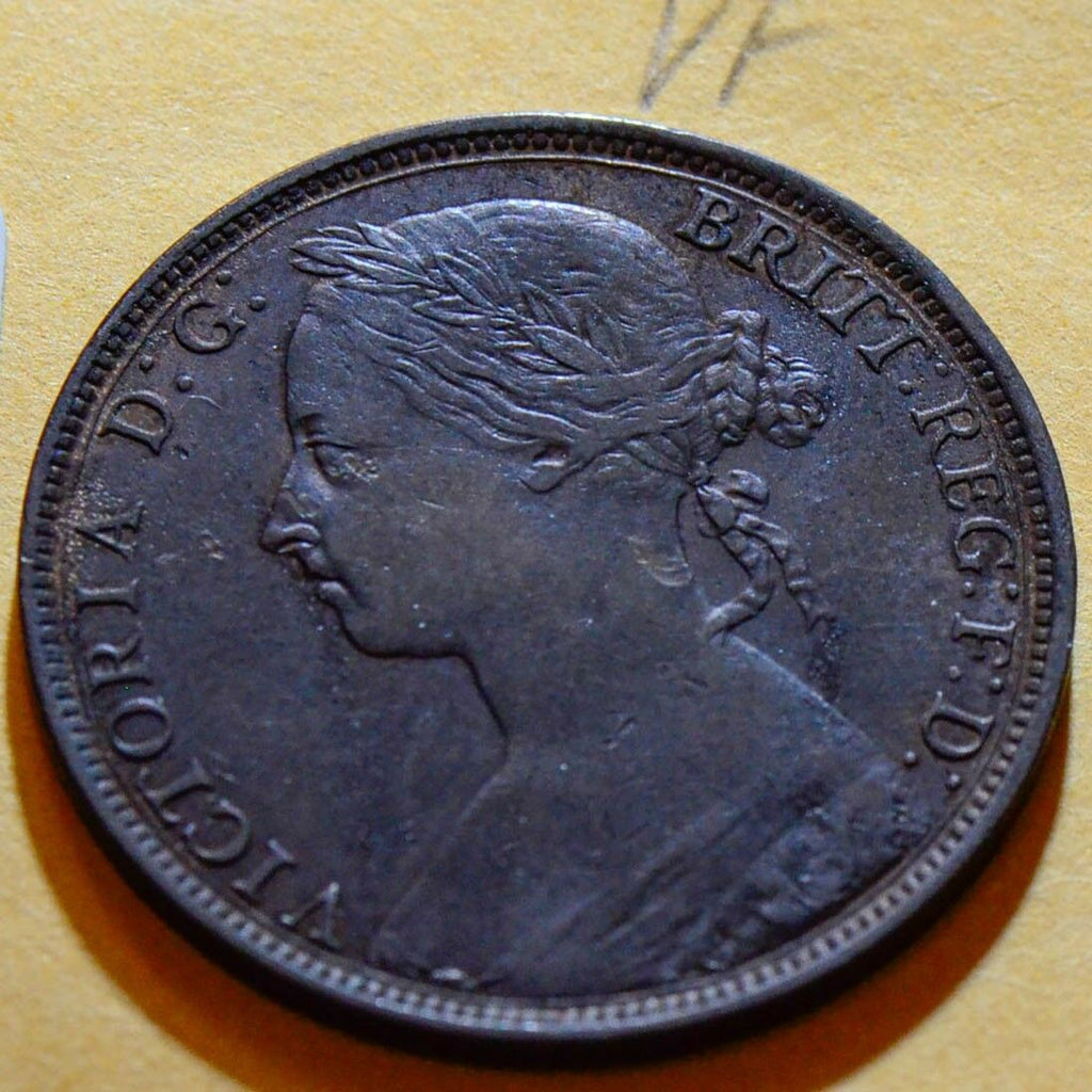 Great Britain  1892 Penny VF GR0113 combine shipping