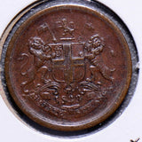 British India 1833 AH1248 1 Pie  bombay I0141 combine shipping