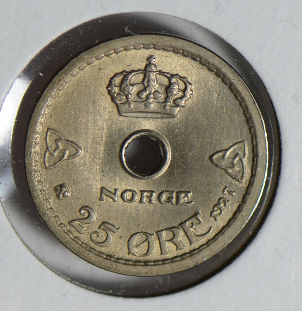 Norway 1927 25 Ore gem UNC N0179 combine shipping
