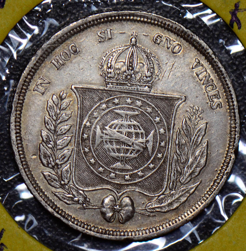 Brazil 1861 500 Reis silver  190439 combine shipping
