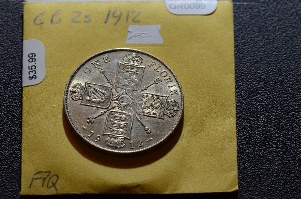 Great Britain  1912 2 Shillings  GR0099 combine shipping