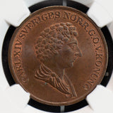 NG0626 Sweden 1836 /5 Skilling NGC MS65BN rare in this grade combine shipping