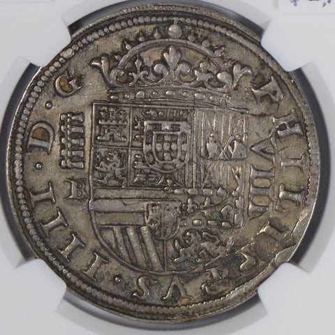 Spain 1659 /31 8 Reales silver NGC AU50 Segovia rare overdate NG0755 combine shi