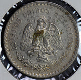 M0176 Mexico 1924 Peso silver better date cap and rays combine shipping