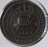 Brazil 1784 20 Reis conterstamped B0183 combine shipping