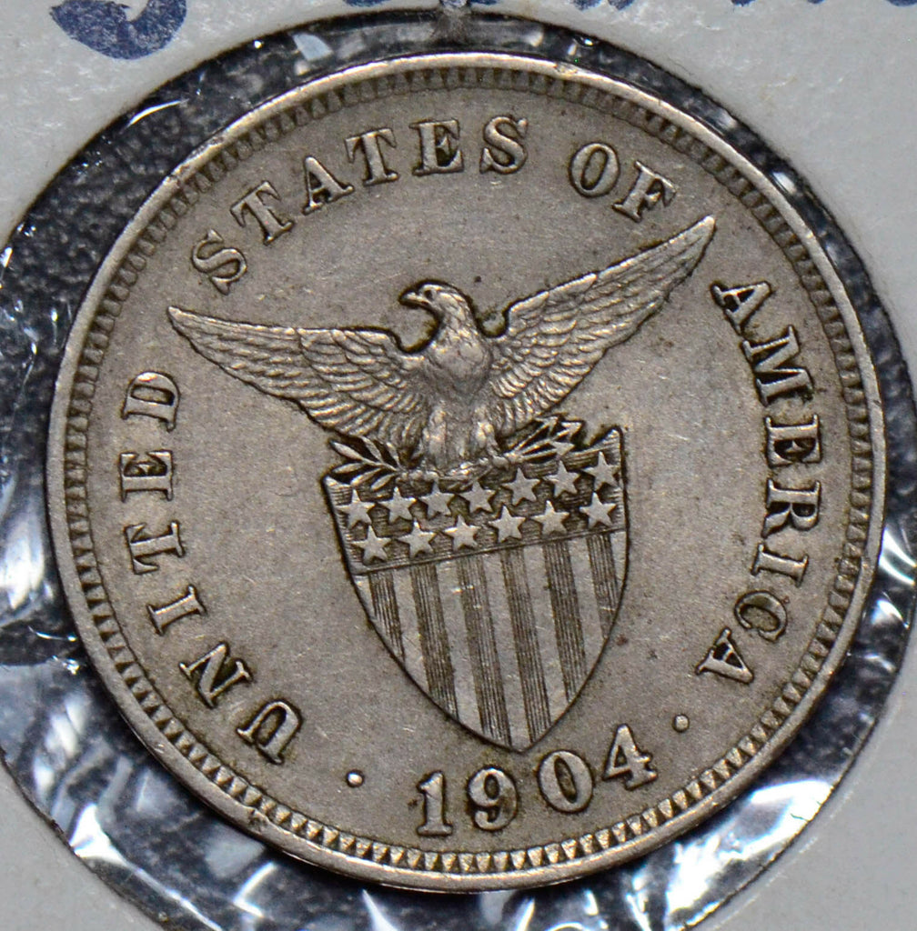 Philippines 1904 5 Centavos eagle animal  190054 combine shipping