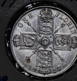 Great Britain 1917 Florin silver  GR0239 combine shipping