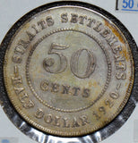 Straits Settlements 1920  50 Cents    S0159  combine shipping