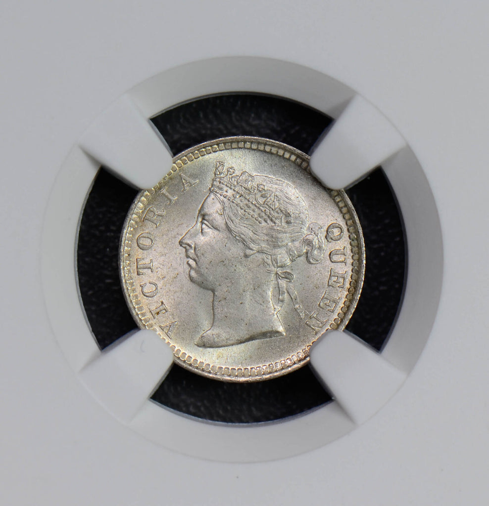 Hong Kong 1899 5 Cents silver NGC MS65 rare in this grade NG0446 combine shippin