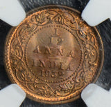 British India 1932 C 1/12 Anna NGC MS65RB NG0396 combine shipping