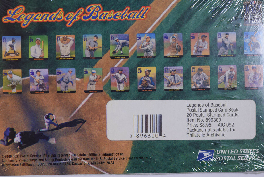 20 legands of baseball postal cards  BU0405 combine shipping