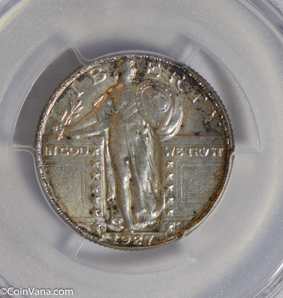 1927 D Standing Liberty Quarter silver PCGS MS62 PC0267 combine shipping