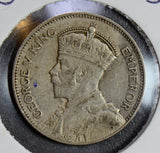 N0115 New Zealand 1933 Shilling silver  combine shipping