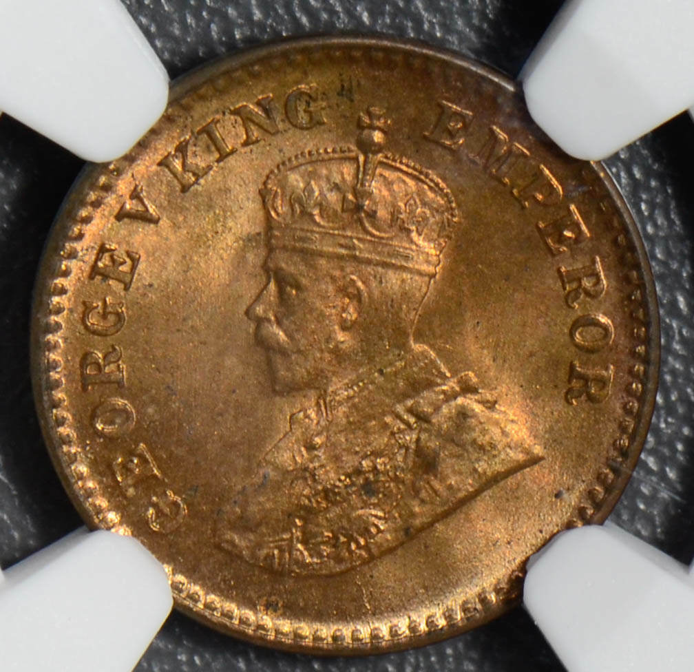 British India 1932 C 1/12 Anna NGC MS65RB NG0417 combine shipping