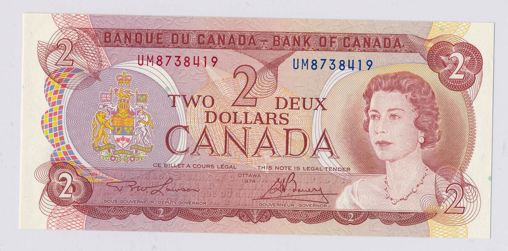 Canada 1974  2 Dollars  RC0098 combine shipping