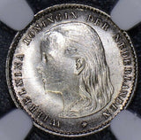 NG0094 Netherlands 1894 10 Cents NGC MS 64  combine shipping