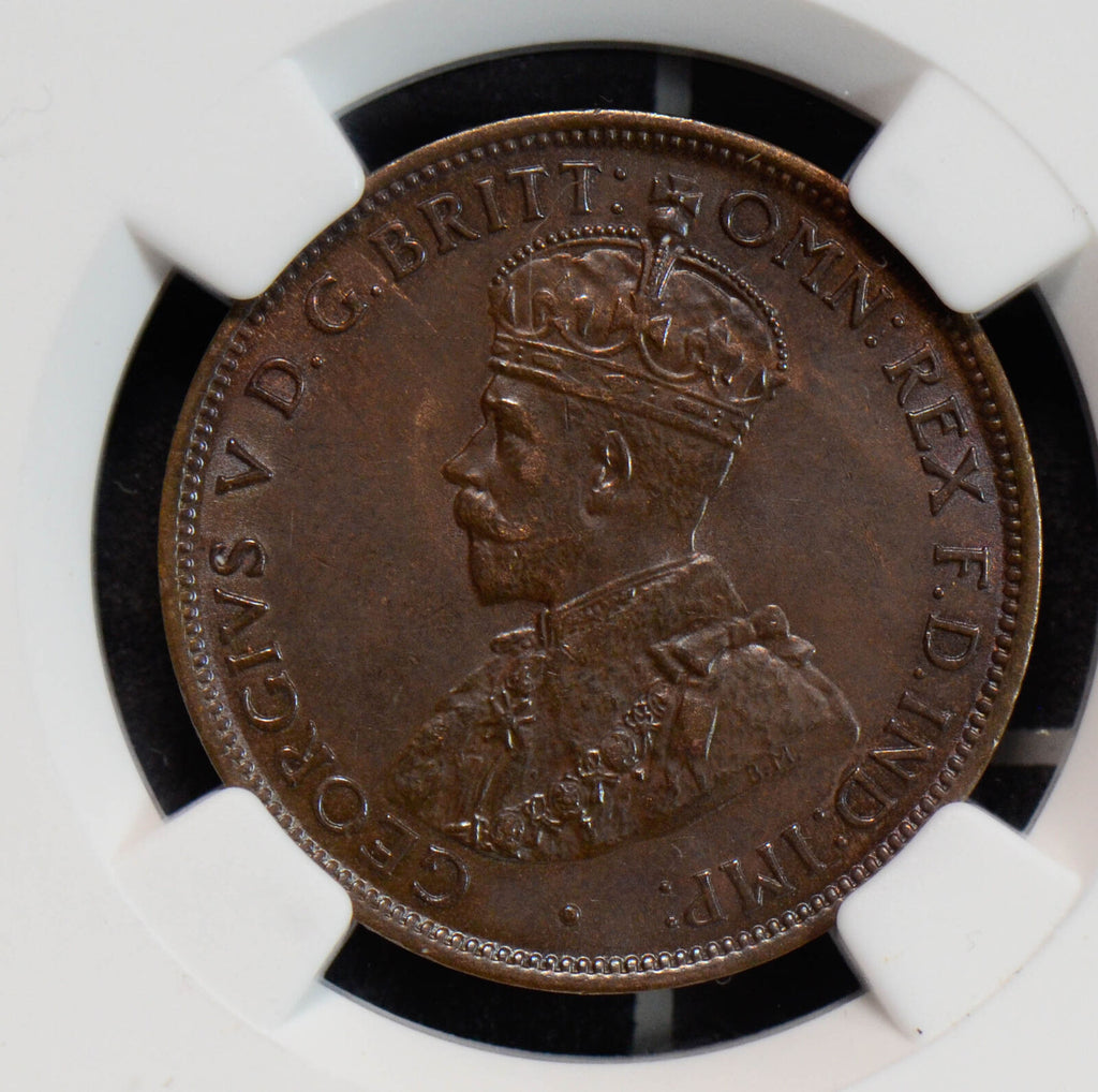NG0610 Australia 1919 1/2 half penny NGC MS62 BN combine shipping
