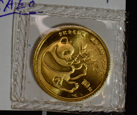 China 1984 10 Yuan gold mint sealed BU 1/10 oz panda GL0067 combine shipping