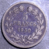 France 1839  5 Francs F0058 combine shipping