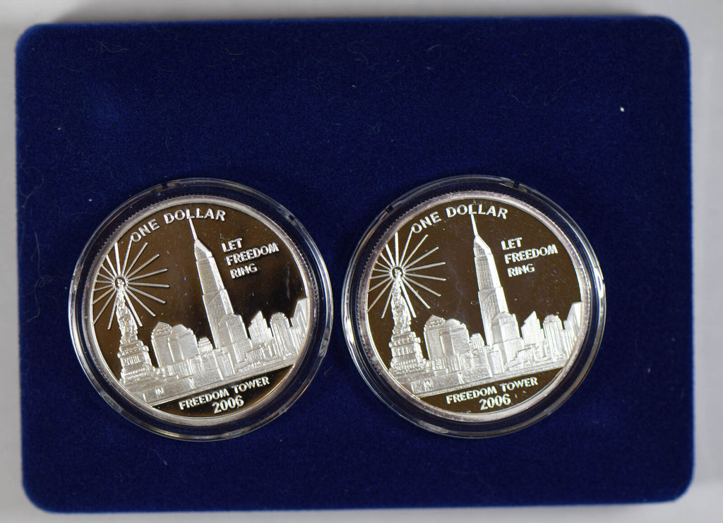 Cook Islands 2006 Medal silver freedom tower 2 coins BU0415 combine shipping