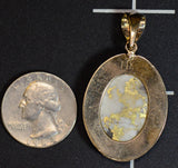 vintage california gold in quartz pendant with VS1 quality dimond and BU0304
