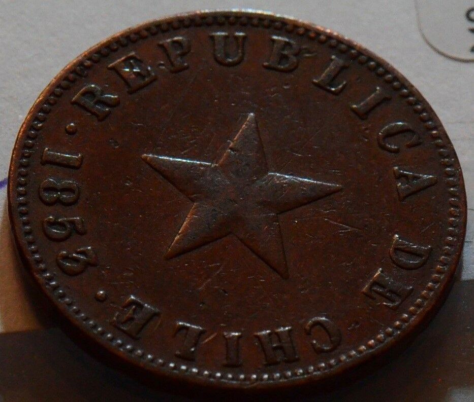 Chile  1853 Centavo   C0011 combine shipping