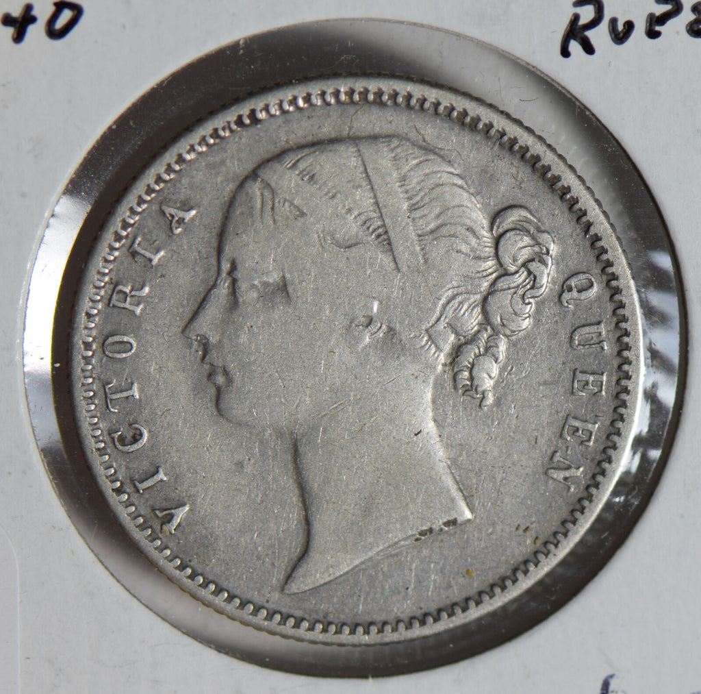 British India 1840 1/2 half rupee silver  I0470 combine shipping