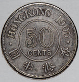 Hong Kong 1905  50 Cents    H0057  combine shipping