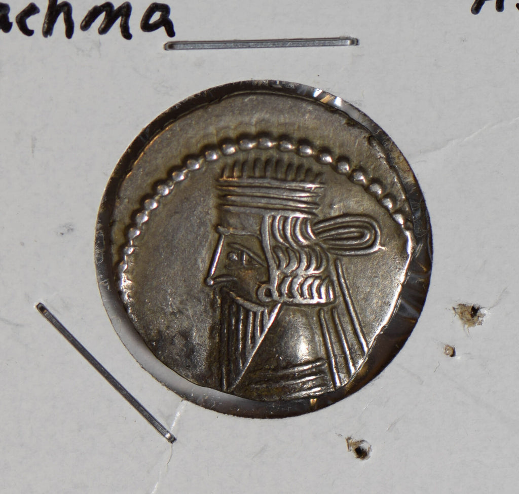 Ancient 140 AD parthia greek drachma silver  AN0033 combine shipping