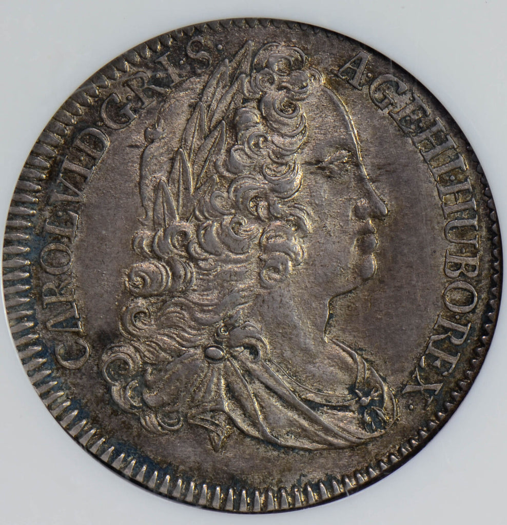 Austria 1740 1/4 Taler silver NGC MS64 rare in this grade NG0447 combine shippin