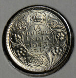 British India 1943 1/4 Rupee silver  combine shipping I0274 combine shipping