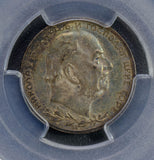 Montenegro 1912 Perper silver PCGS AU58 nice green toning PC0197 combine shippin
