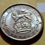 Great Britain I 1927 6 Pence  GR0125 combine shipping