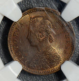 British India 1894 C 1/12 Anna NGC MS64BN calcutta mint NG0402 combine shipping