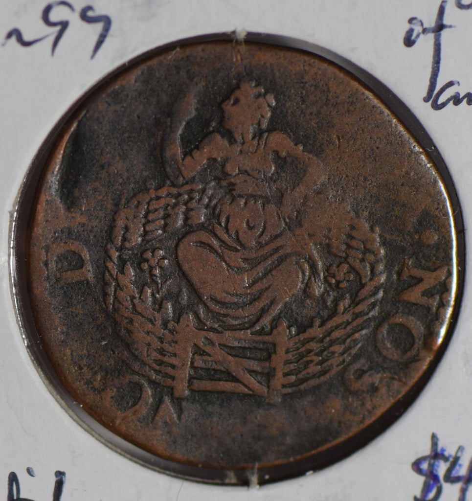 Netherlands 1590 ~9 Colonial New York Penny virgin of holland N0154 combine ship