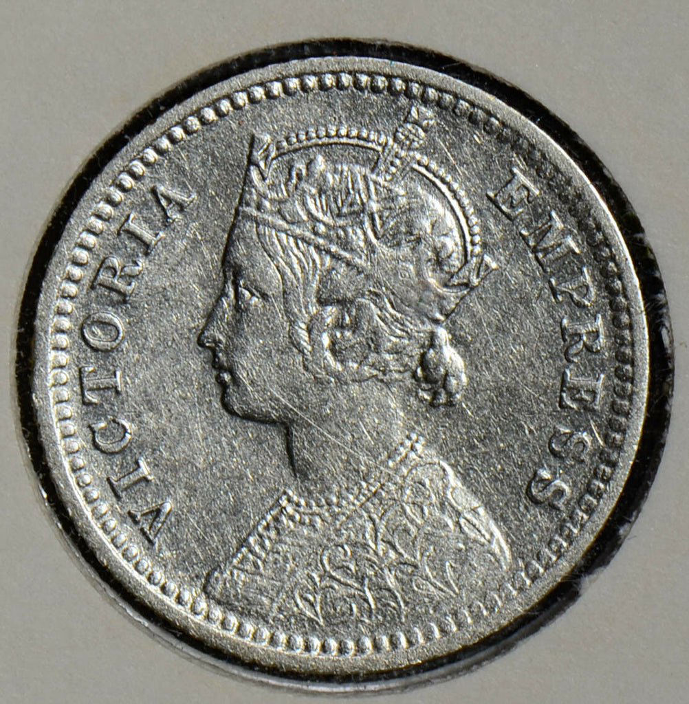 British India 1897 1/4 Rupee silver  I0273 combine shipping
