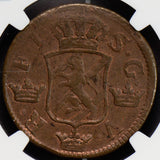 NG0613 Sweden 1748 2 Ore NGC MS63BN rare in this grade combine shipping