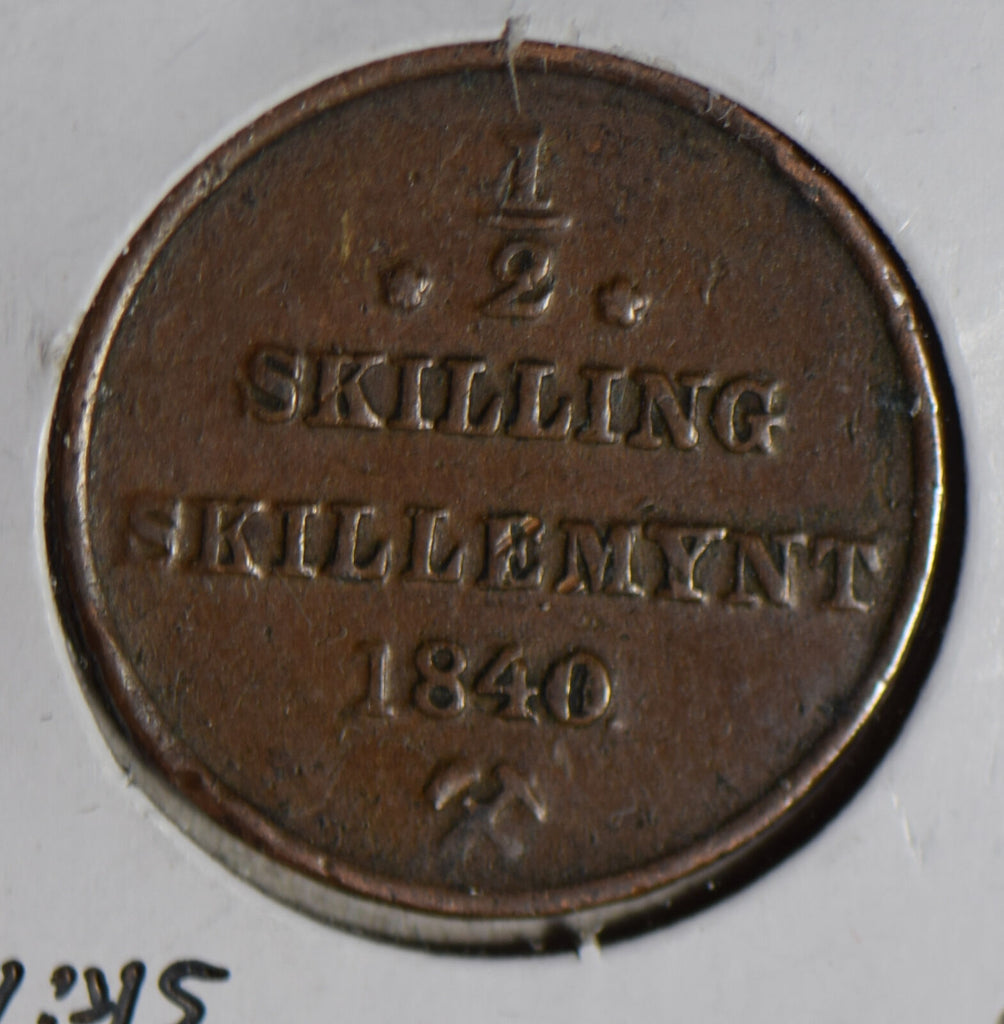 Norway 1840 1/2 Skilling  N0194 combine shipping