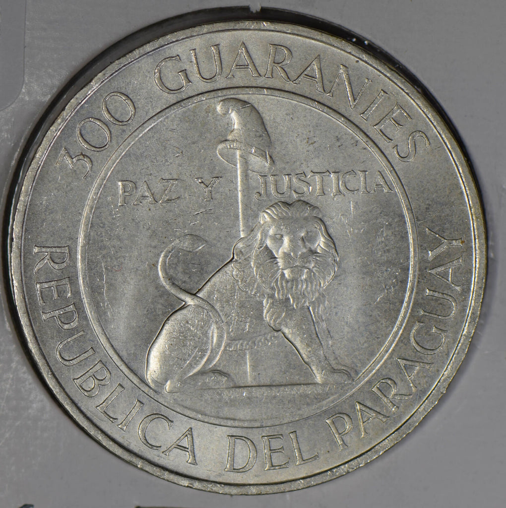 Paraguay 1968 300 Guaranies silver  P0235 combine shipping