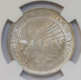 Nicaragua 1912 H 50 Cents silver NGC AU58 NG0694 combine shipping