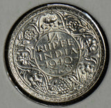British India 1940 1/4 Rupee silver BU I0229 combine shipping