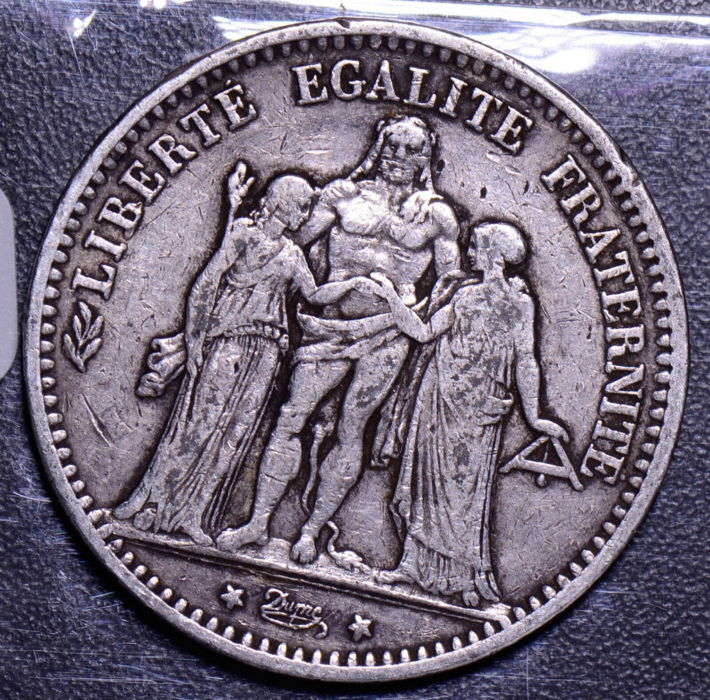 France 1874  5 Francs F0063 combine shipping