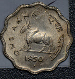 Republic India 1950 B Anna UNC zebu I0314 combine shipping