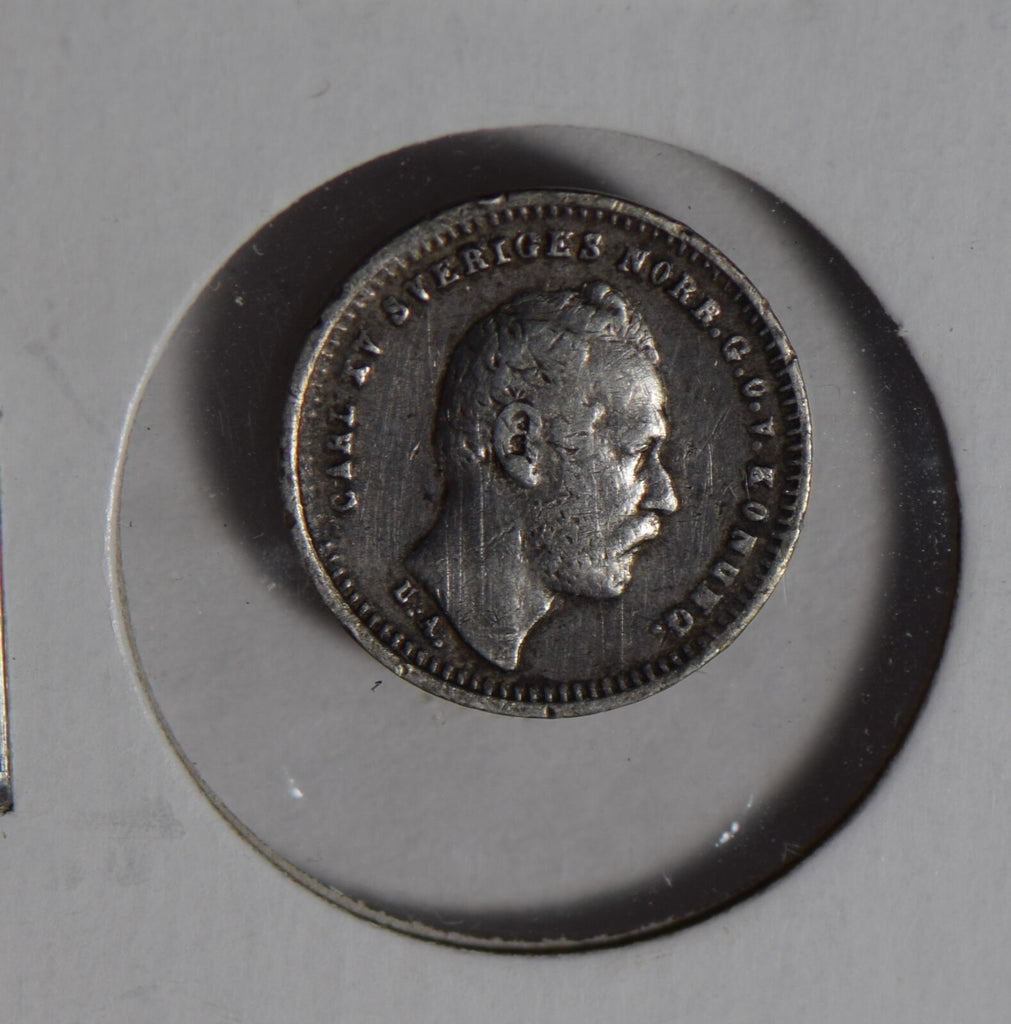 Sweden 1867 10 Ore silver  S0242 combine shipping