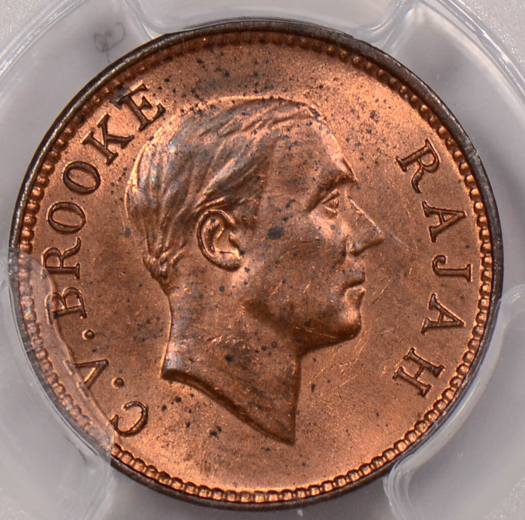 PC0089 Sarawak 1933 H 1/2 Cent PCGS MS 63RB prid-61 combine shipping
